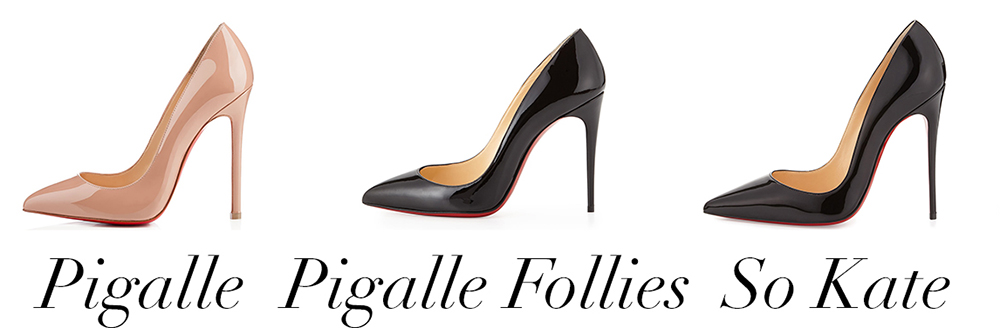 Christian Louboutin's heel sizing and comparison