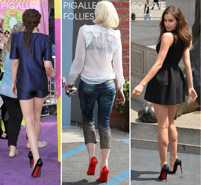 Celeb with Pigalle vs Pigalle Follies vs So Kate from back